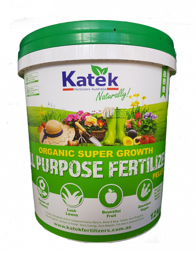 Katek Organic Super Growth Fertilizer 12kg Bucket