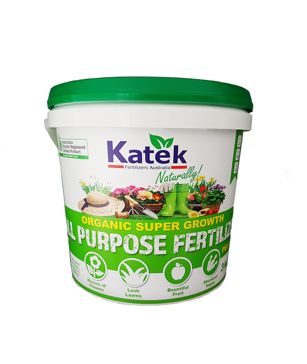 Katek Organic Super Growth Fertilizer 3kg Bucket