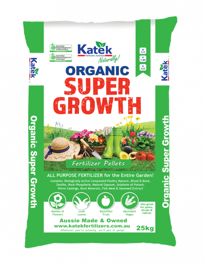 Katek Organic Super Growth Fertilizer 25kg Bag